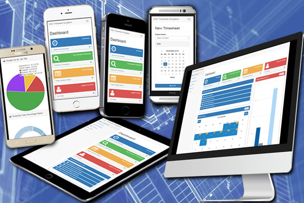 Submit time sheets using smart phones and other internet capable devices.