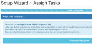 Assign tasks to projects