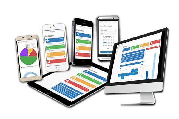 Online Timesheet system for smart phones, tablets, laptops, and desktop devices.